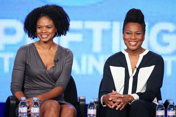 Actress Kimberly Elise (portrays Angela Logan) and real-life, Angela Logan